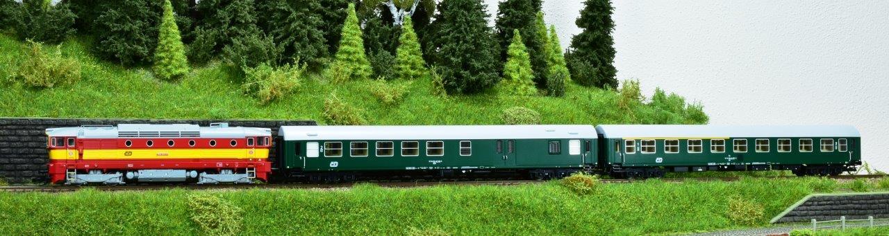 Vozy YB zelené ČD